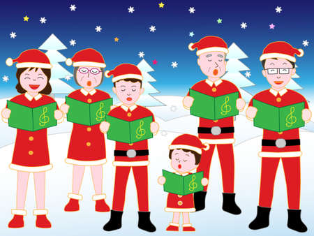 chorus: Families at the Christmas concert.