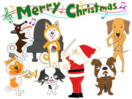 Dog Christmas concert.