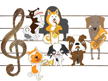 akita: Dogs concert