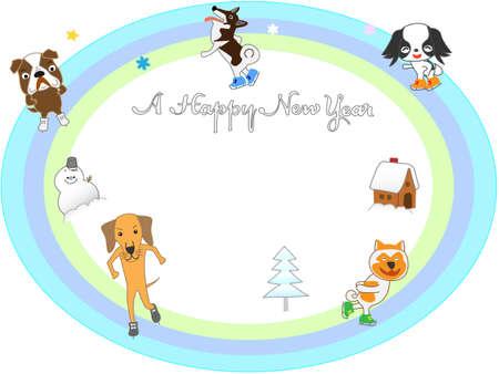 2018 posting dogs ice skating
