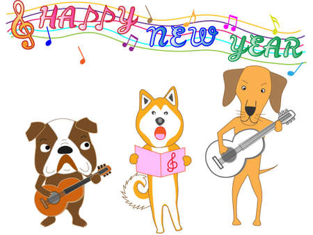 akita: Happy new year posting dog concert.