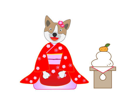 Concept of 2018 year of the dog design template for greeting cards