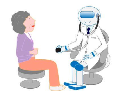 Robots with artificial intelligence doctors have examined.