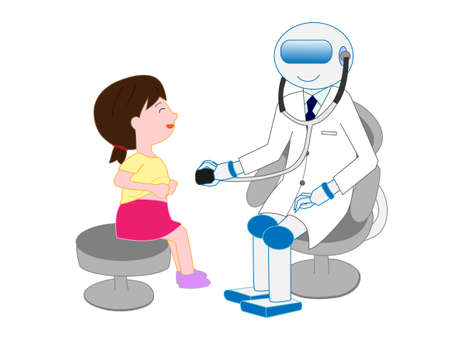 Artificial intelligence doctors have examined a boy.