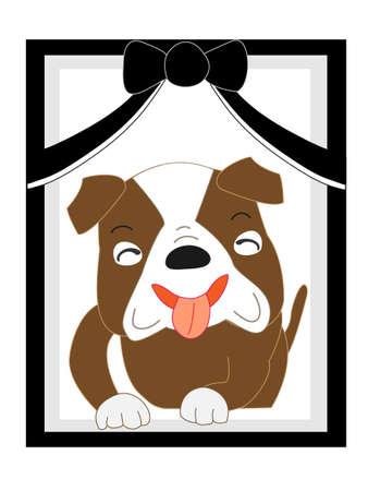 Dog portrait illustration Illustration