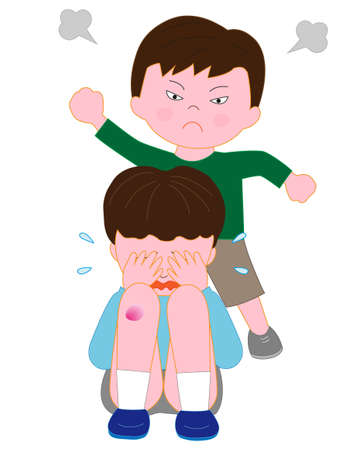 Children's bullying problem Ilustrace