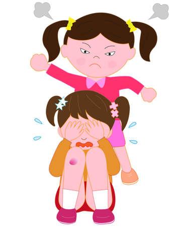 Children's bullying problem Stock Illustratie