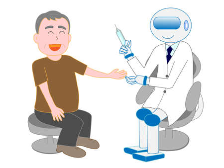 Robots with artificial intelligence doctors have injected a man.