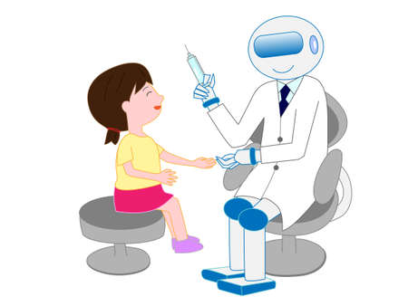 Robots with artificial intelligence doctors have injected a girl.