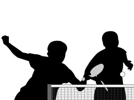 Silhouette of table tennis Stok Fotoğraf - 93884996