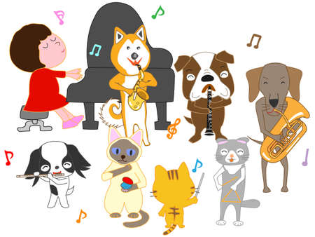 Concerts for kids and pets Stock Illustratie
