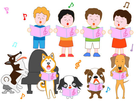 Concert for children and pets  イラスト・ベクター素材