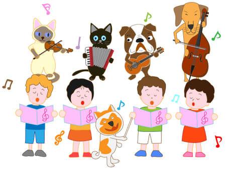 Concert for children and pets Illustration