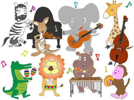 Il concerto degli animali. Vettoriali