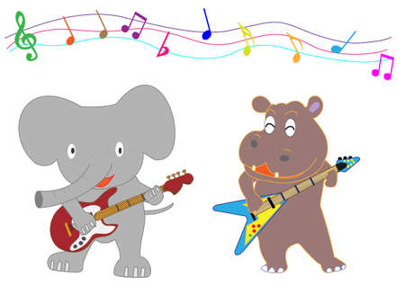 The concert of the animals.