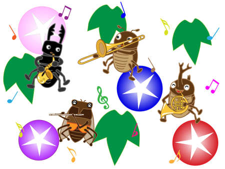 A concert of summer insects.