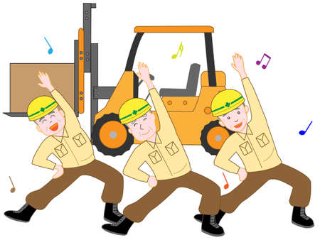 For the elderly who are working hard to work.  イラスト・ベクター素材