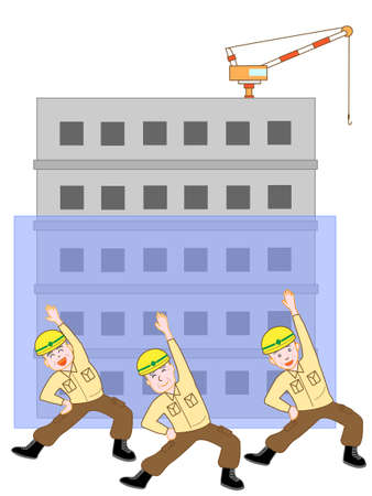 For the elderly who are working hard to work. Illustration