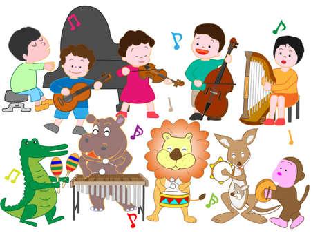 Il concerto di animali e bambini.