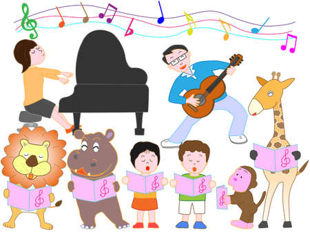Concert for family and animals 写真素材 - 105534351