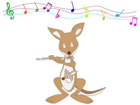 Animals playing musical instruments. 矢量图像