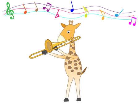 Animals playing musical instruments.  イラスト・ベクター素材