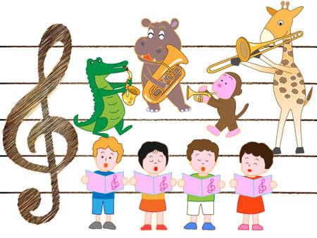 Conciertos de animales y niños