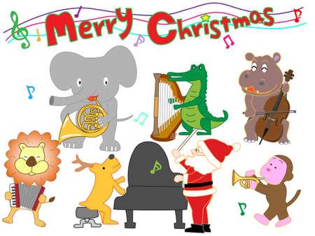 Zoo Christmas concert  イラスト・ベクター素材