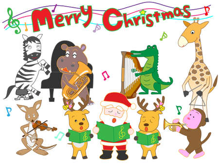Zoo Christmas concert Illustration