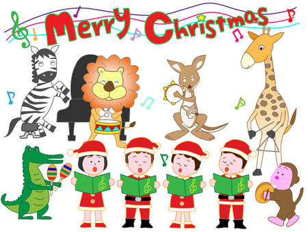 Animals and children's Christmas concert