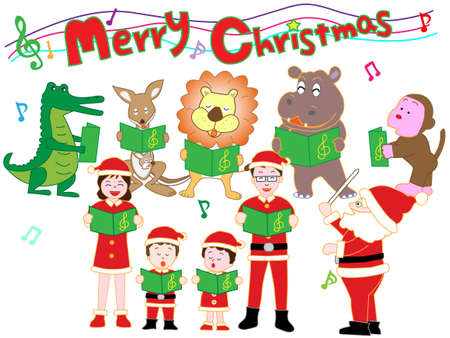 Christmas Concert for family and animals Banque d'images - 108762617