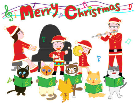 Cats with a family Christmas concert