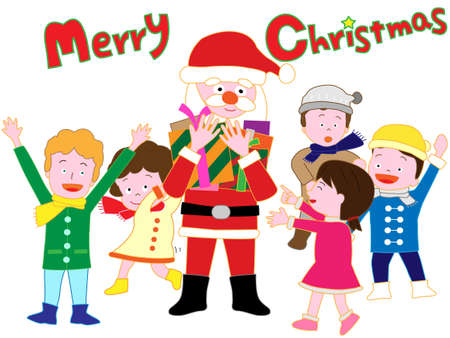 Santa Claus to distribute Christmas presents to the children.