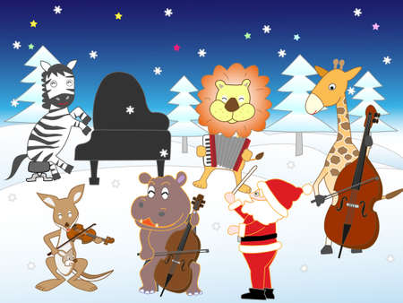 White Christmas for the animals. Opening concert.