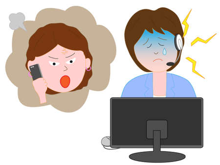 Customer Center of consumer complaints against staff. Illustration