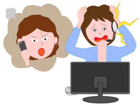 Customer Center of consumer complaints against staff. Illustration