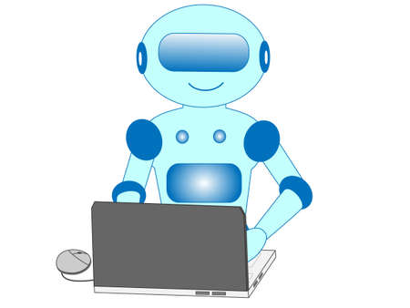 Robots with artificial intelligence that work with Office.