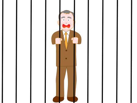 Became unnecessary when the senior businessman isolated. Standard-Bild - 112719549