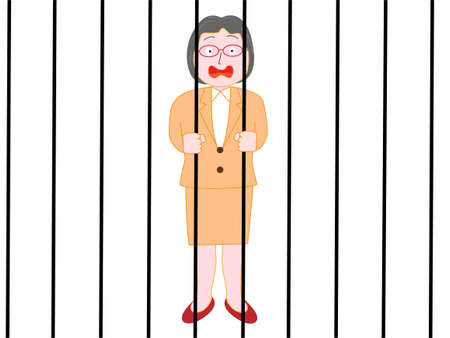 Senior pairs businesswoman has been quarantined.