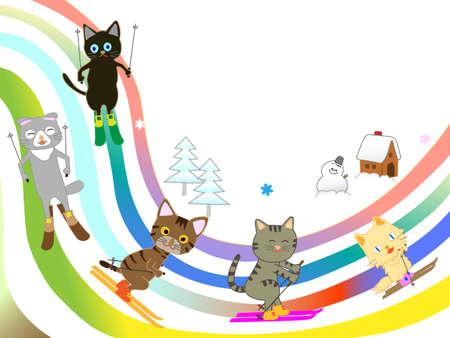 Cat skiing.