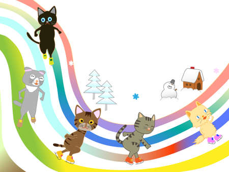 Ice skating in cats.