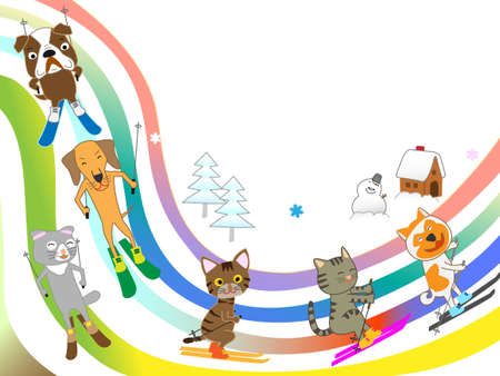 Our pets ' winter sports