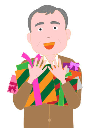 Men confess love for Valentines day Illustration