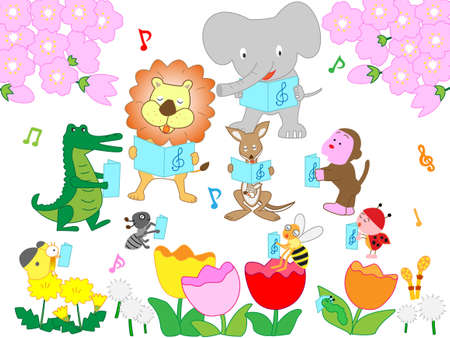The concert was held in the spring of insects and animals