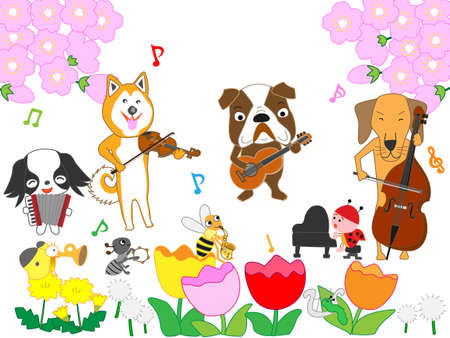 Dog and insects Spring concert