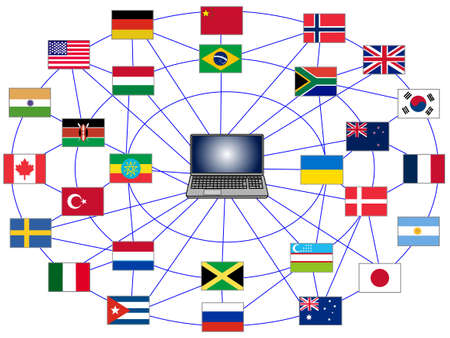 Computers to disseminate information around the world. Useful crime spread worldwide.