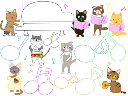 Cat concert Banque d'images - 119208759