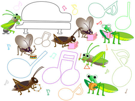 Concert of insects Illustration