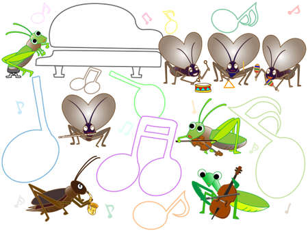 Concert of insects Vettoriali