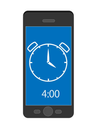 Smart phone tells time.
